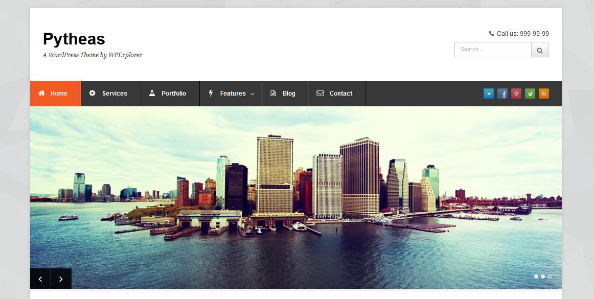 Home - Pytheas - free wordpress theme responsive