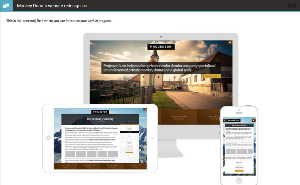 projector-feedback-wordpress-theme